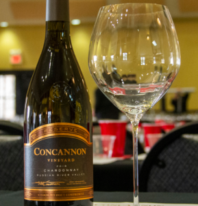 Concannon Chardonnay and wine glass pairing